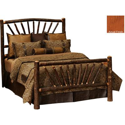 Hickory Log Single Sunburst Bed - Cinnamon