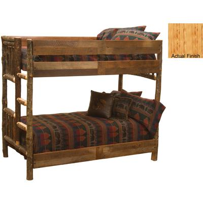 Hickory Log Single/Single Bunk Bed with Left Ladder - Natural Hickory