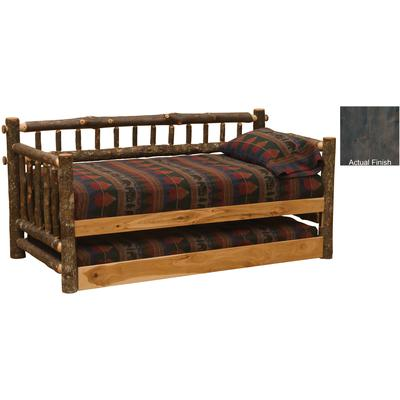 Hickory Log Daybed with Trundle - Slate