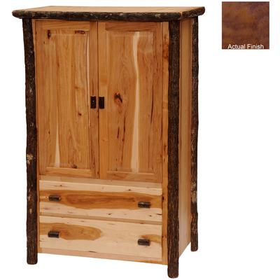 Hickory Log Value 2-Drawer Wardrobe - Cognac