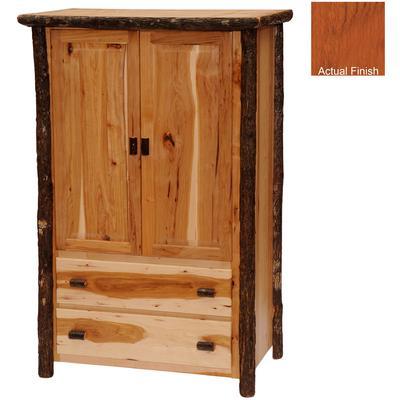 Hickory Log Premium 2-Drawer Wardrobe - Cinnamon