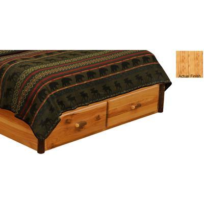 Hickory Log Single 2-Drawer Dresser Footboard - Natural Hickory
