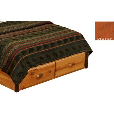 Hickory Log King 3-Drawer Dresser Footboard - Cinnamon