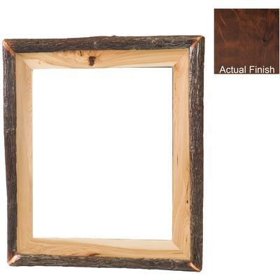 """Hickory Log 32"""" x 36"""" Mirror Frame - Espresso"""