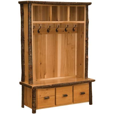 Hickory Log Entry Locker Unit - Natural Hickory