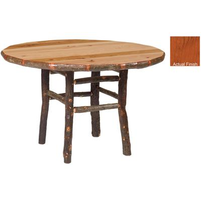 "Hickory Log 42"" Round Dining Table - Cinnamon"