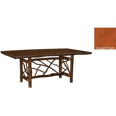 Hickory Log 7-Foot Twig Dining Table - Cinnamon