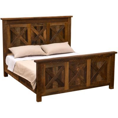 Barnwood Cal King Barndoor Bed