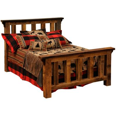 Barnwood Single Post Bed