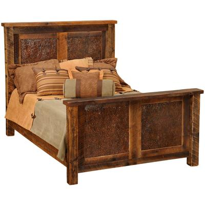 Barnwood Single Copper Inset Bed