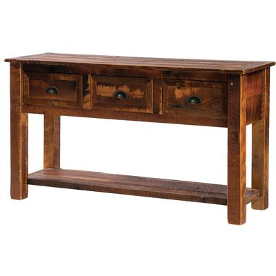 Barnwood 3-Drawer Console Table