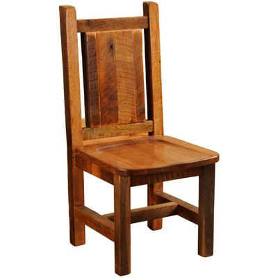 Barnwood Artisan Side Chair with Wood Seat - Antique Oak