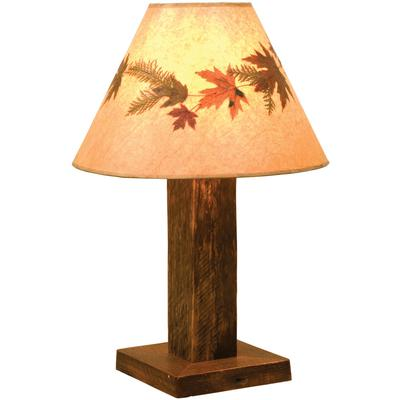 Barnwood Table Lamp with Shade
