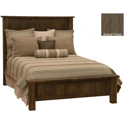 Frontier King Traditional Low Profile Bed - Driftwood