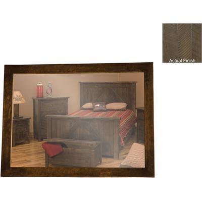 "Frontier 32"" x 36"" Mirror Frame - Driftwood"