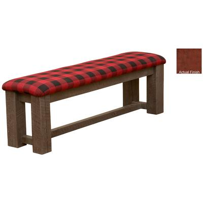 "Frontier 72"" Timber Bench with Standard Fabric - Red Canyon"