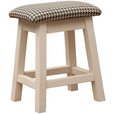 "Frontier 24"" Saddle Stool with Upgrade Fabric - Cottonwood"