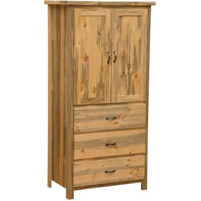 Blue Stain Pine Value 3-Drawer Armoire