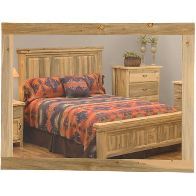 """Blue Stain Pine 36"""" x 36"""" Mirror"""