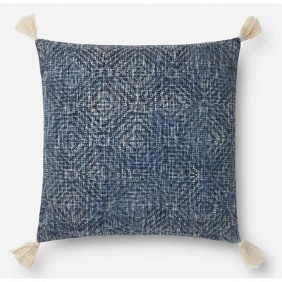 "22"" x 22"" Blue Pillow"