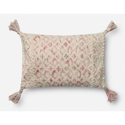 "13"" x 21"" Pink/Ivory Pillow"