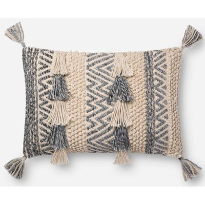 "16"" x 26"" Natural/Grey Pillow"