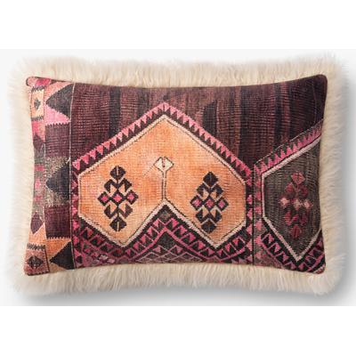 """13"""" x 21"""" Multicolored/Ivory Pillow"""