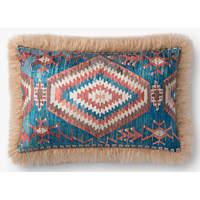 "13"" x 21"" Multicolored/Beige Pillow"
