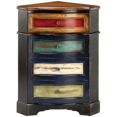 Shiloh One-Door One-Drawer Corner Cabinet