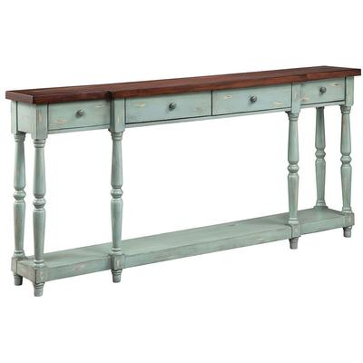 Simpson Four-Drawer Console - Blue