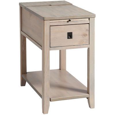 Patton One-Drawer Chairsider - Driftwood
