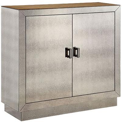 Phipps Two-Door Mirrored Accent Cabinet