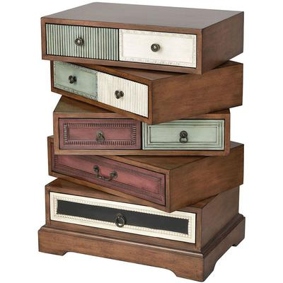 Willard Five-Drawer Accent Chest - Mahogany Stain