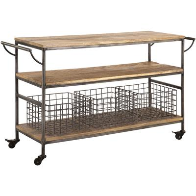 Country Kitchen Trolley - Natural Mango