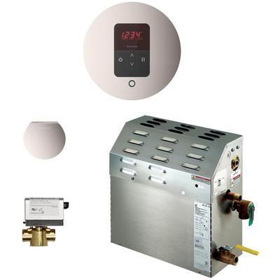 6kW Steam Bath Generator with iTempo AutoFlush Round Package - Polished Nickel