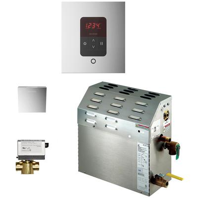 5kW Steam Bath Generator with iTempo AutoFlush Square Package - Polished Chrome