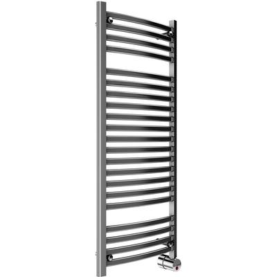 21-Bar Wall Mounted Electric Towel Warmer with Digital Timer - Polished Chrome