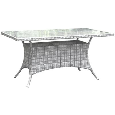 "Santorini 36"" x 60"" Rectangular Dining Table with Tempered Glass"