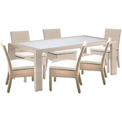Cubix 7-Piece Side Chair Dining Set with Cushions