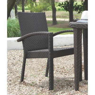 Atlantis Patio Stackable Arm Chair