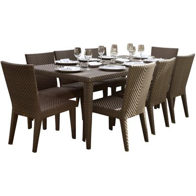 Atlantis 9-Piece Rectangular Dining Side Chair Group with Cushions