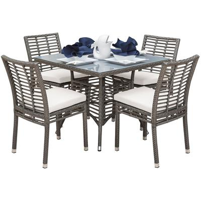 Panama Jack Graphite 5-Piece Square Dining Set