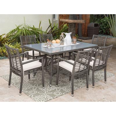 Panama Jack® Graphite 7-Piece Dining Set