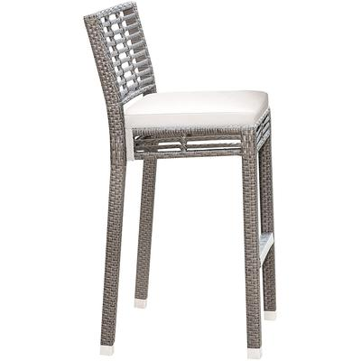 Panama Jack Graphite Stackable Barstool with Cushion