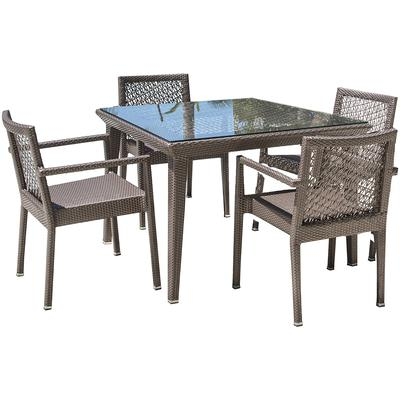 Panama Jack Maldives 5-Piece Dining Set with Cushions