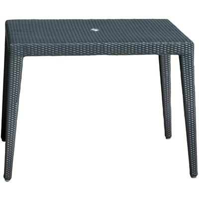 "Panama Jack Onyx 40"" Square Dining Table with Umbrella Hole"