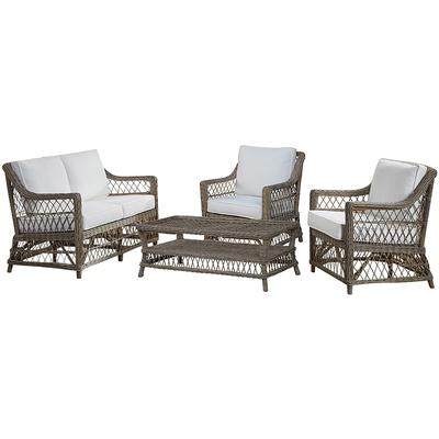 Panama Jack Seaside 4-Piece Seating Set - Indoor Beige