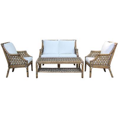 Panama Jack Old Havana 4-Piece Seating Set - Indoor Beige