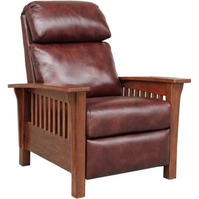 Mission Recliner in Leather - Wenlock Fudge