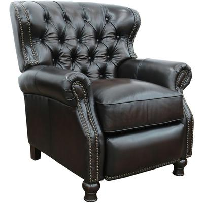 Presidential Recliner in Leather - Stetson Coffee